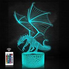 Novedad Dragón Luz Lámpara Ornamento Regalo de arte de fantasía