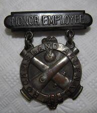 "WW1 Springfield Armory Worker ""Honor Employee"" Award Medal - 1918"