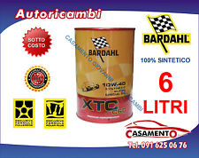 6 LITRI LT OLIO MOTORE AUTO BARDAHL XTC C60 10W40 POLAR PLUS FULLERENE TAGLIANDO