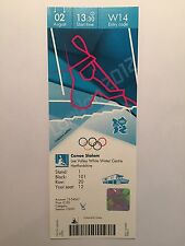 LONDON 2012 OLYMPIC TICKET CANOE SLALOM TEAM GB GOLD & SILVER 2 AUG £150 *MINT*