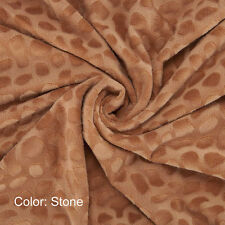 Neotrims Minky MINKIE Velour Cuddle Fabric Material, Pebble Pattern, Photography