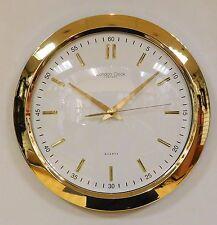 London Clock Company Gold Finish Wall Clock 24187