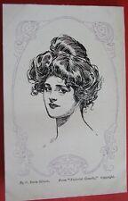 C.DANA GIBSON GLAMOUR ARTIST Postcard c.1905 FROM PICTORIAL COMEDY GLAMOUR LADY