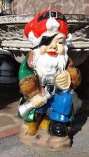 Pirat Gartenzwerg Figur Groß Zwerg Skulptur Garten Werbefigur Dekoration NEU