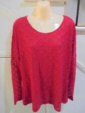 CAPTURE NWT SIZE 20 RED LACE LINED TOP