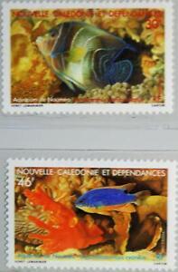 NEW CALEDONIA NEUKALEDONIEN 1988 821-22 Aquarium Nouméa Fish Fische Sea Life MNH