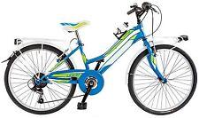 "Bicicletta City Bike GALANT LY24C ragazza 24"" acciaio shimano 6 V bici  AZZURRRO"