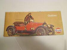 Vintage GULF QUEBEC CANADA Gas Service Station Road Map~Stutz Bearcat