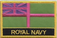 Royal Navy RN Ensign Flag Subdued Version Embroidered Patch