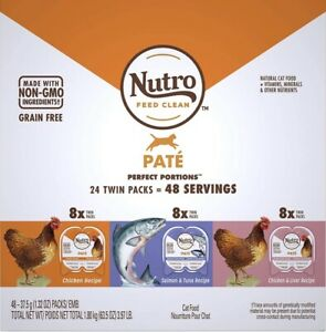 Nutra Perfect Portion Adult Wet Cat Food, Grain Free Natural Variety 48 Serving