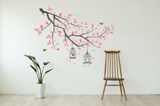 Walplus Wall Sticker Pink Blossom Flower Tree Art Decal Room Home Decoration