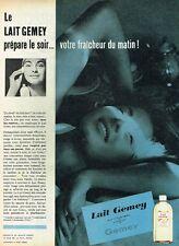 F- Publicité Advertising 1958 Cosmétique Le Lait Gemey