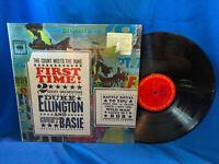 Duke Ellington Count Basie LP First Time! Columbia CS 8515 RE