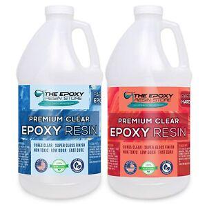 Clear Epoxy Resin Table top bar epoxy craft art coating epoxy - 2 GALLON KIT