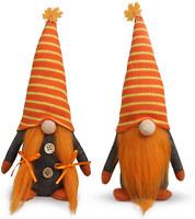 Tifeson Mr and Mrs Fall Gnome Plush Thanksgiving Decorations - 2 Pcs Handmade Sw