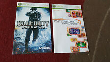 2x Call of Duty World at War & XBOX LIVE ARCADE UNPLUGGED Manuals (NO GAMES) 360