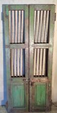 Antique Architectural Salvaged Wood & Iron Doors. Wine Cellar Doors