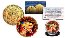 DRAGON BOAT FESTIVAL - Chinese Poet Qu Yuan 24K Gold Plated JFK Half Dollar Coin