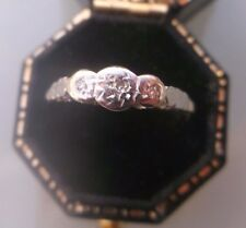 Women's Vintage 18ct Gold & Platinum Diamond Ring  Weight 1.6g Size N Stamped
