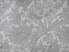 "WILLIAM MORRIS CURTAIN FABRIC  ""Chrysanthemum Toile"" 2.4 METRES SISAL/CANVAS"