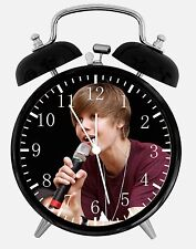 "Justin Bieber Alarm Desk Clock 3.75"" Home or Office Decor W247 Nice For Gift"