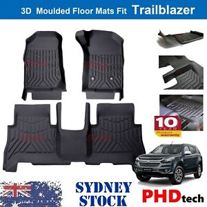 Prime 3D TPE All Weather Floor Mats Liners Fit Holden Trailblazer 2016-2021 2row