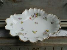 ANCIENNE CORBEILLE JEAN POUYAT LIMOGES JPL FORME COQUILLAGE BENITIER