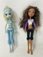 Monster High Dead Tired Clawdeen Wolf & Dead Tired Lagoona Blue ~Lot of 2 Dolls