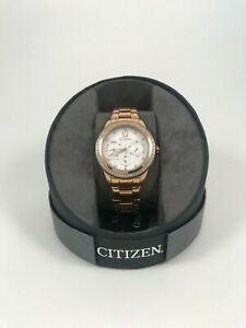 Eco Drive Citizen ladies rose watch FD2013-50A New