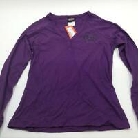 NEW Harley Womens Purple Instill Life Raglan Long Slv Henley Shirt M XL 3X