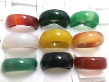 25stk  18-22mm Achat Ring Quarz Mineral Agate Ring türkis sonderposten mix