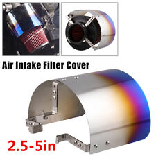 1Pcs 2.5-5in 304 Stainless Steel Car Cold Air Intake Filter Cover Heat Shield
