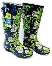 Western Chief Tall Rain Boots Navy w/Flowers Size 7 NEW w/Tag   Z140