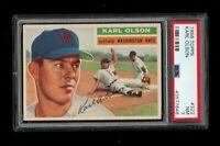 1956 Topps BB Card #322 Karl Olson Washington Nationals PSA NM 7 !!!!