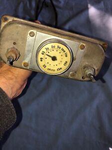 Oldsmobile Pontiac Buick 1936 1937 1938 1939 Vintage Delco Dash Radio Dial Head