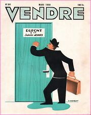▬►MARKETING PUBLICITÉ  -- VENDRE N° 241 (MARS 1950) --  COVER  G..CHAMBLET