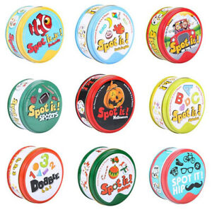 83mm Spot It Game Cards Dobble Kid Basic English Version On Road Holidays