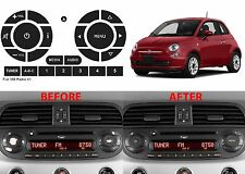 Peeling Radio Button Repair Stickers For 2011-2016 Fiat 500 New Free Shipping