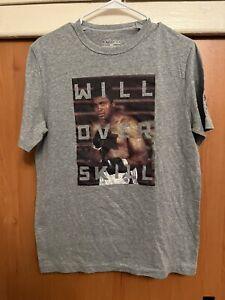 Muhammad Ali Under Armour Will Over Skill T-Shirt Size Medium Gray
