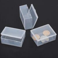 5x Clear Transparent Plastic Storage Box Collection Container Case Part  UK