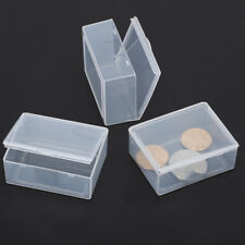 5x Clear Transparent Plastic Storage Box Collection Container Case Part Box