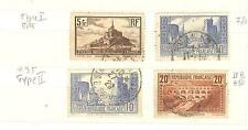 TIMBRES FRANCE OBLITERES   N° 260 + 261 x 2 + 262 COTE € 97