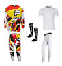 PULSE STORM RED & YELLOW MOTOCROSS MX ENDURO BMX MTB KIT + BASE LAYERS & SOCKS