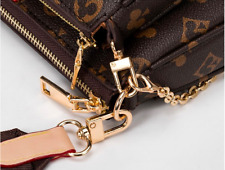 3 in 1 PU Leather Women Shoulder Bag Chain Multi-Pocket Crossbody Handbag