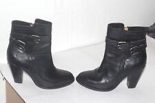 Frye Women's Black ankle Leather Buckle  Boots  Sz 8.5 Black