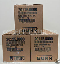 Bunn 12-Cup Coffee Filters 3 case 1000 per case 3K total 20115.0000