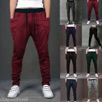 Unisex Casual Jogger Dance Harem Sport Pants Baggy Slacks Trousers Sweatpant New