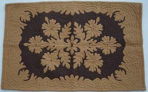 Hawaiian quilt hand quilted/appliquéd handmade TABLE RUNNER FLOOR MAT