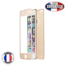 Protection Verre Trempé Face Avant + Arrière Titane Or pour Apple iPhone 7