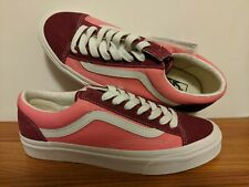 VANS New Style 36 Vintage Sport Rumba Red/Blanc de Blanc Men Size USA 9 EUR 42